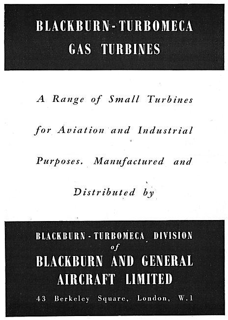 Blackburn-Turbomeca Gas Turbine Engines