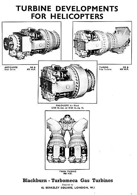 Blackburn - Turbomeca Gas Turbines - Turmo Artouste Palouste