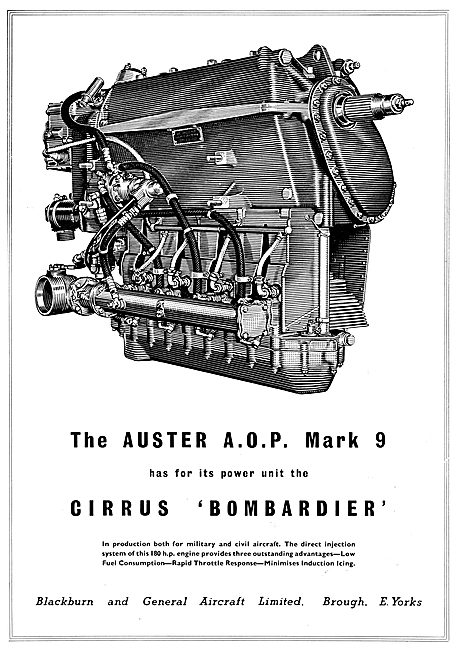 Blackburn Cirrus Bombardier - Auster AOP Mk9