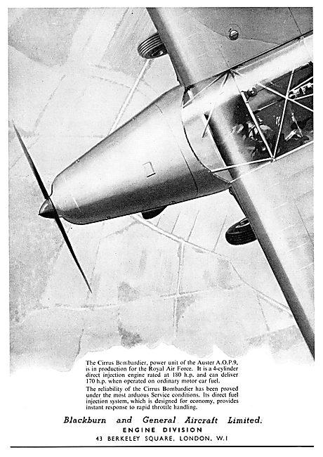 Blackburn & General Aircraft  - Cirrus Bombardier Engine