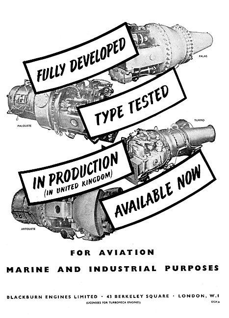 Blackburn Gas Turbine Engines 1959