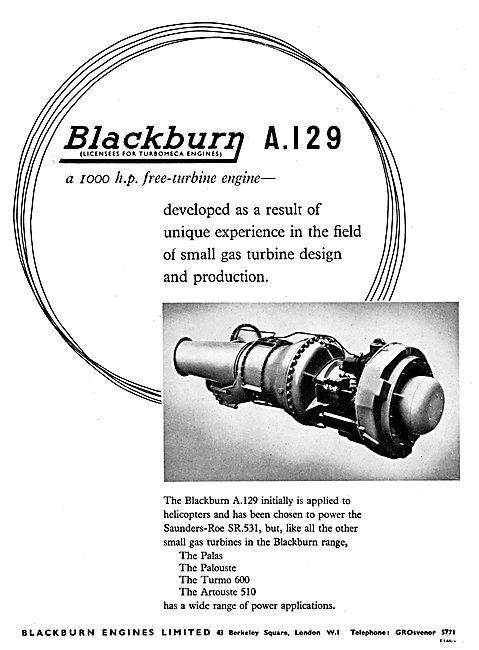 Blackburn A129 Free Turbine Engine