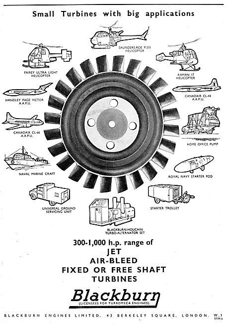 Blackburn Turbomeca Gas Turbine Engines 1959