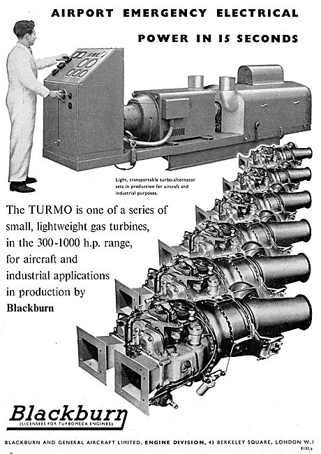 Blackburn Turmo Airport Standby Power Unit