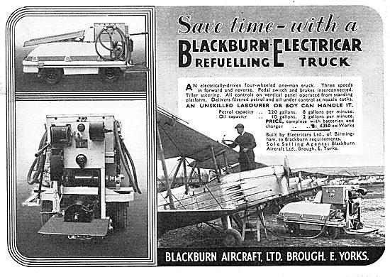 Blackburn Electricar Aircraft Refuelling Truck