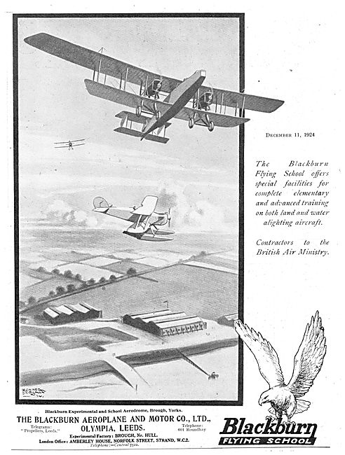 The Blackburn Flying School Brough Airfield