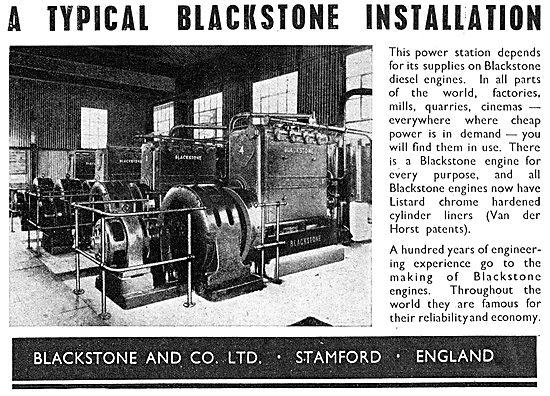Blackstone & Co. Industrial Engines & Power Installations