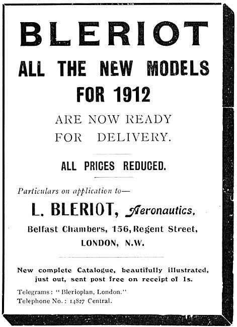 Bleriot Aircraft 1912
