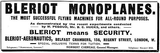 Bleriot Aeronautics - Bleriot Aeroplanes - Bleriot Flying School
