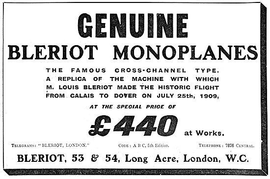 Bleriot Monoplanes - Cross Channel Replica