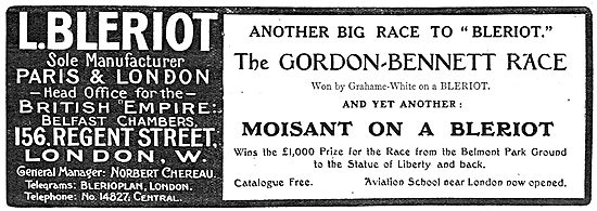 Bleriot Monoplanes - Grahame-White Gordon-Bennett Race