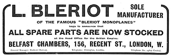 Bleriot Aeroplanes All Parts Are Now In Stock In The UK