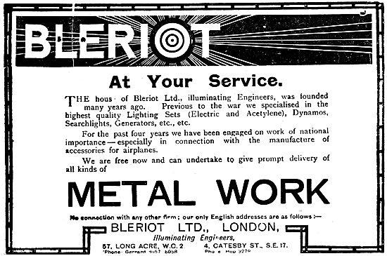 Bleriot Ltd. Illuminating Engineers