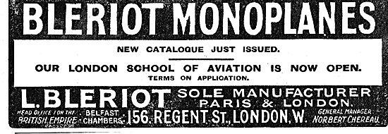Bleriot School Of Aviation In London