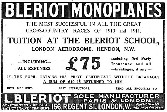 Flying Tuition At The Bleriot School London Aerodrome Hendon