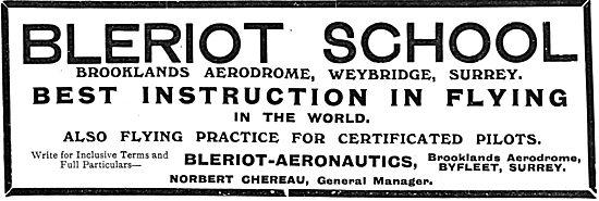 The Bleriot Flying School - Brooklands Aerodrome Surrey
