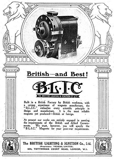 BLIC Aero Engine Magnetos - British & Best