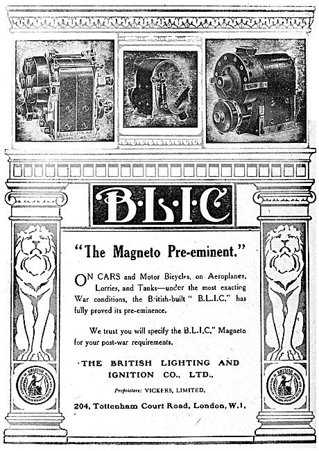 BLIC Aircraft Engine Magnetos - 1919