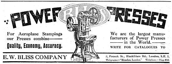 E.W.Bliss Company. Power Presses 1917