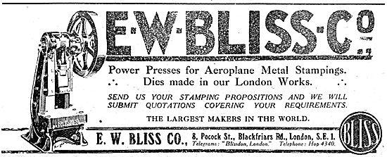 E.W.Bliss Company. WW1 Power Presses