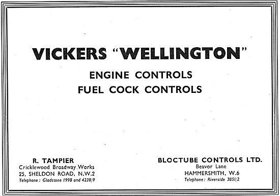 Tampier Bloctube Aircraft Controls 1939