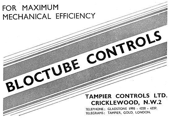 Tampier Bloctube Mechanical Controls 1943 Advert