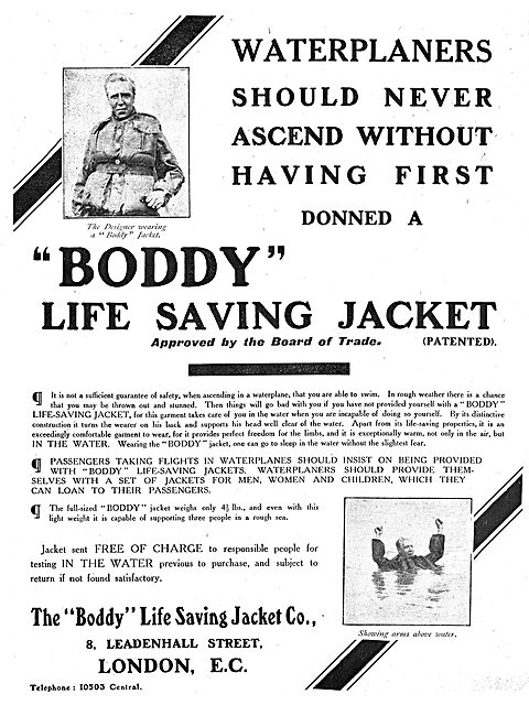The Boddy Life Saving Jacket  For Waterplaners