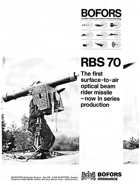Bofors Aircraft Weapons Systems - BOFORS 70 SAM