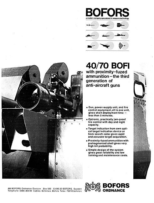 Bofors Aircraft Weapons Systems - Bofors Anti-Aircraft Guns