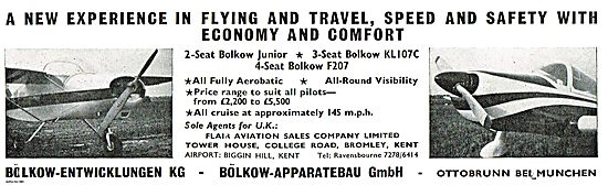 Bolkow Junior - Bolkow KL107C Bolkow F207