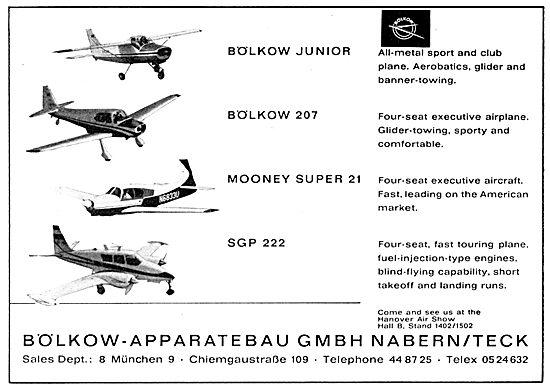 Bolkow Aircraft 1964