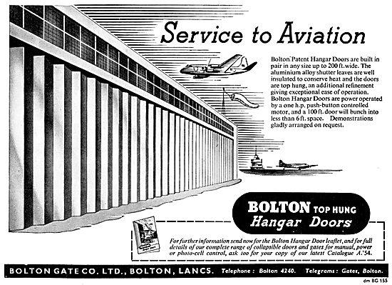 Bolton Gate Aircraft Hangars - Top Ung Hangar Doors