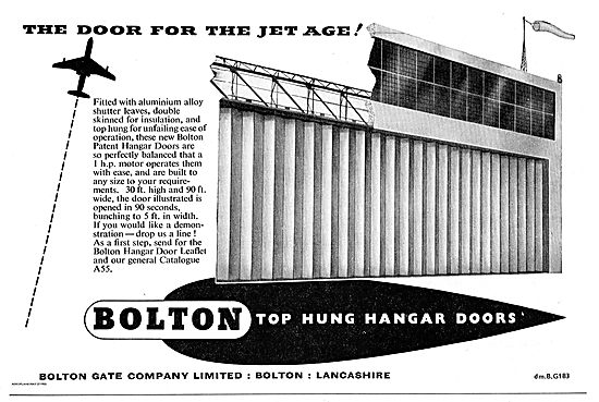 Bolton Top Hung Hangar Doors