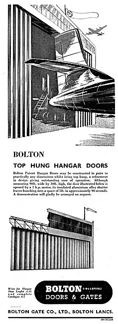 Bolton Top Hung Aircraft Hangar Doors