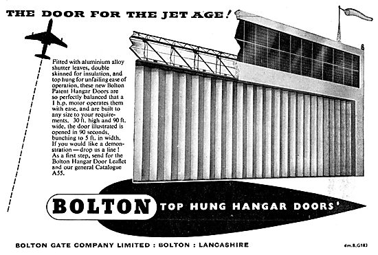 Bolton Gate. Bolton Top Hung Hangar Doors