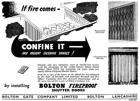 Bolton Gate. Bolton Fireproof Shutter Doors