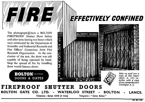 Bolton Fireproof Shutter Doors