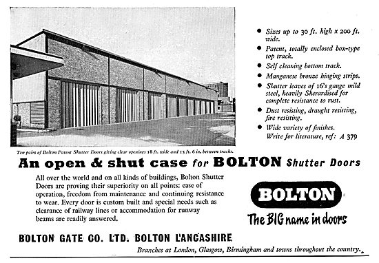 Bolton Patent Shutter Doors