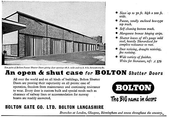 Bolton Gate Company Shutter Doors For Factories & Hangars