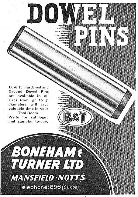 Boneham & Turner Jig Bushes & Dowel Pins