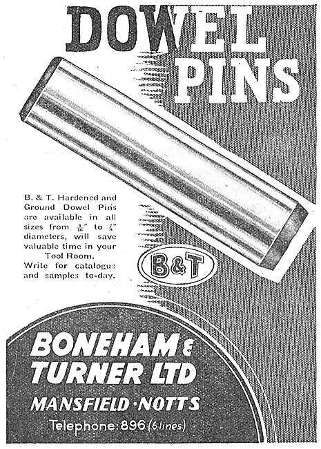 Boneham & Turner Dowel Pins