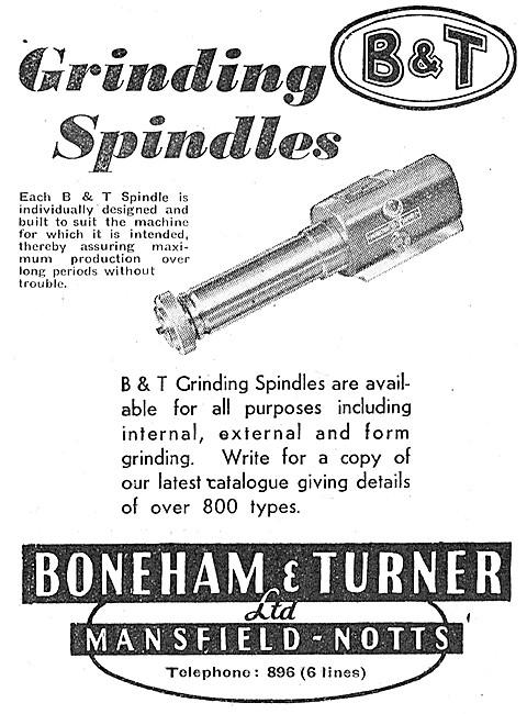 Boneham & Turner Grinding Spindles