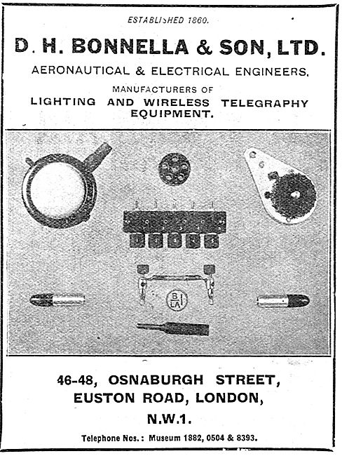 D H Bonella Aeronautical & Electrical Engineers - Lighting Equpt