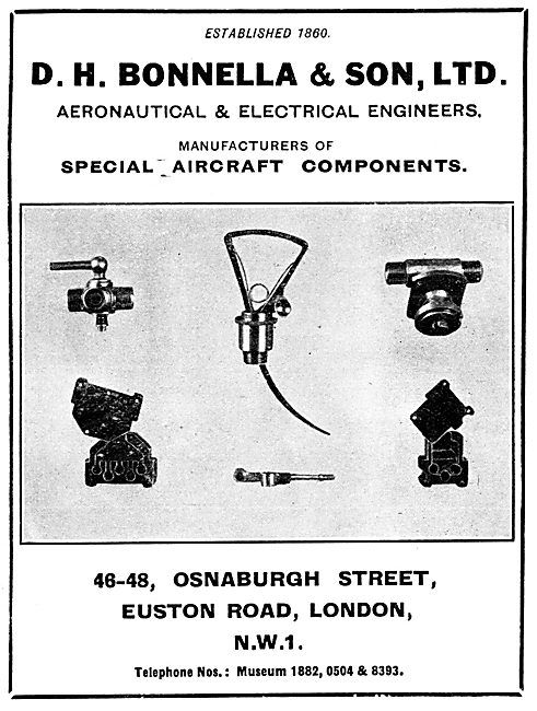 D.H.Bonella Aircraft Ignition Fittings & Accessories 1929