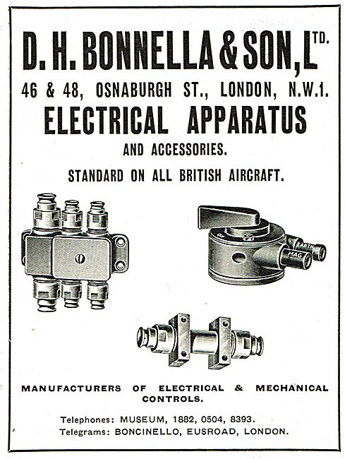 D H Bonella - Manufacturers Of Electrical & Mechanical Controls