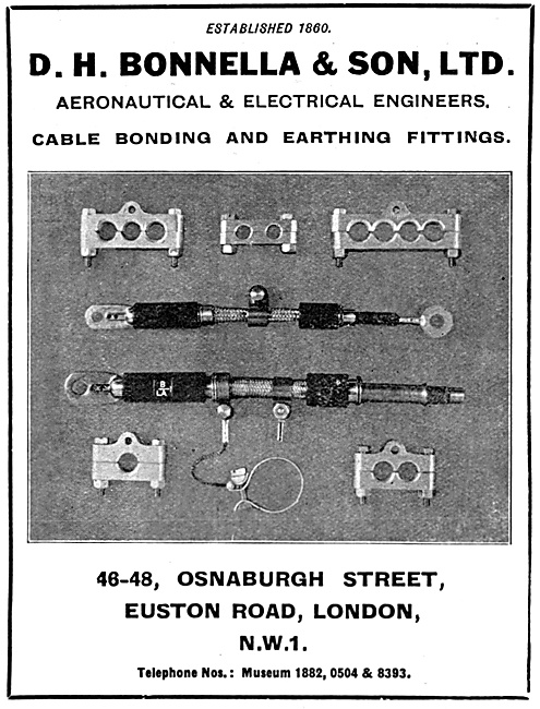 D.H.Bonella Aeronautical & Electrical Engineers  Electrical Parts