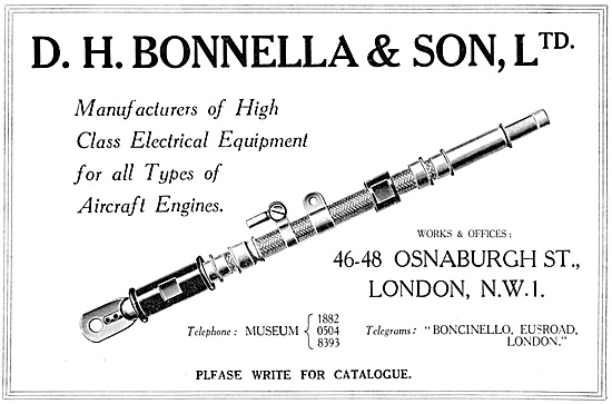D.H.Bonella Electrical Equipment For Aircraft 1929