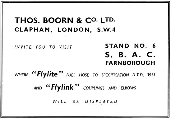 Thos Boorn Flylite Fuel Hose Assemblies - Flylink Couplings