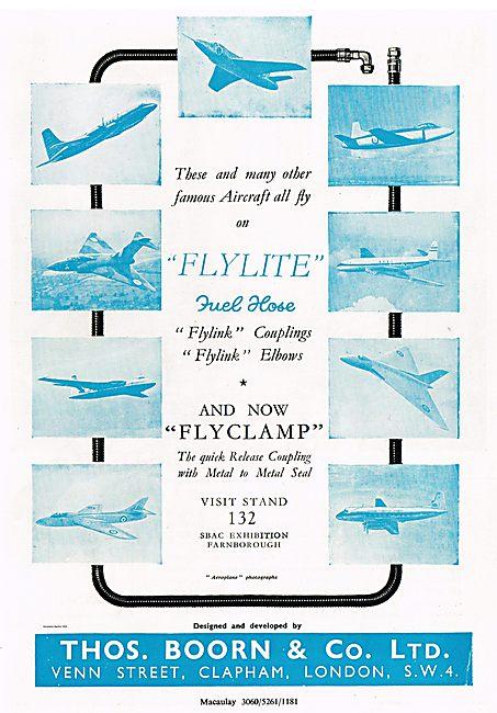Thos Boorn Flylite - Flylink - Flyclamp Fuel Hose Couplings