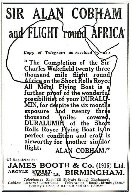 Cobham's Short Flying Boat Proves Versatility Of Duralumin